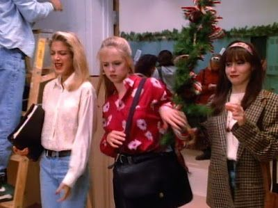 Let's Make Fun Of All The Clothes From Famous Original Beverly Hills, 90210: Season 2, Episode 17: Chuckie's Back - Sick And Tired Of Christmas-Related Everything At This Point? Oh. Well. This is Awkward. My Timing On These Is Flawless As Always.
