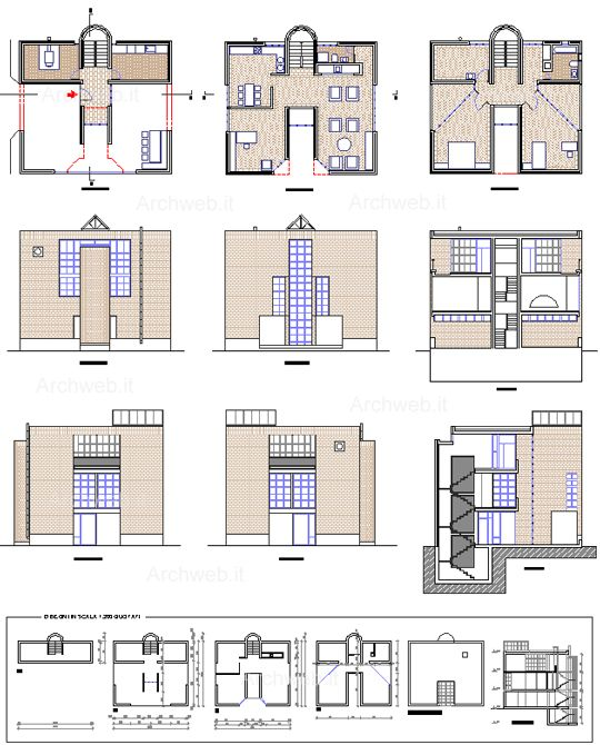 Mario Botta - Casa a Pregassona 2D