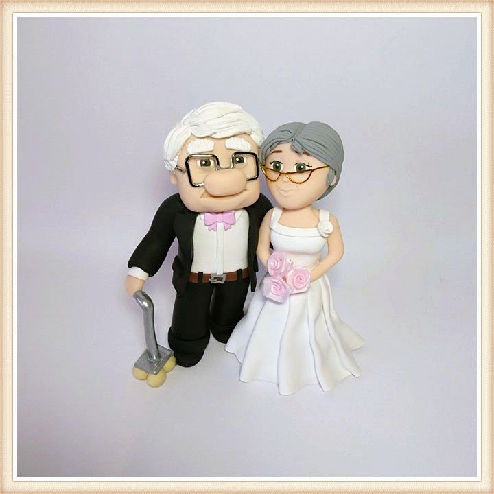 UP Movie Wedding Cake Topper Carl and Ellie Cake Topper Disney Cake Toppers