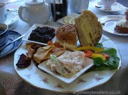 China Blue Tea Shop.  Homemade British Food!  It doesn't get much better!