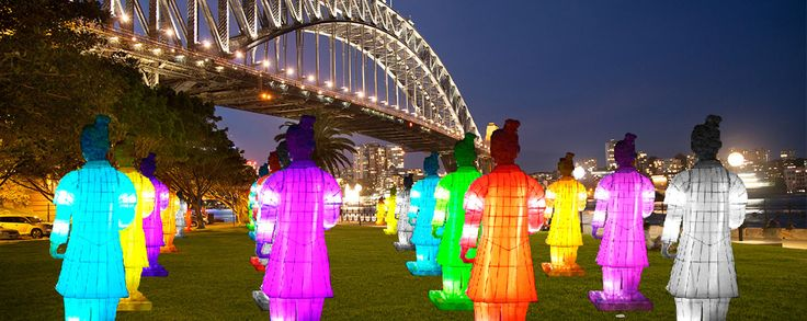 Lanterns of the Terracotta Warrior Exhibition. Part of the Sydney Chinese New Year Festival at Dawes Point 13 February - 22 February 2015.