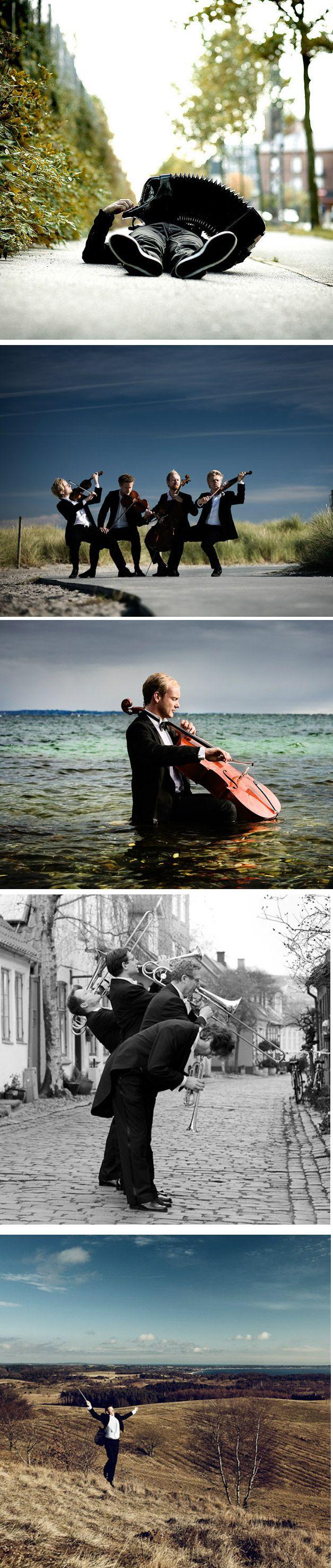 O fotógrafoNikolaj Lundconseguiu registrar músicos clássicos sem aquele conservadorismo conhecido das orquestras.       ...
