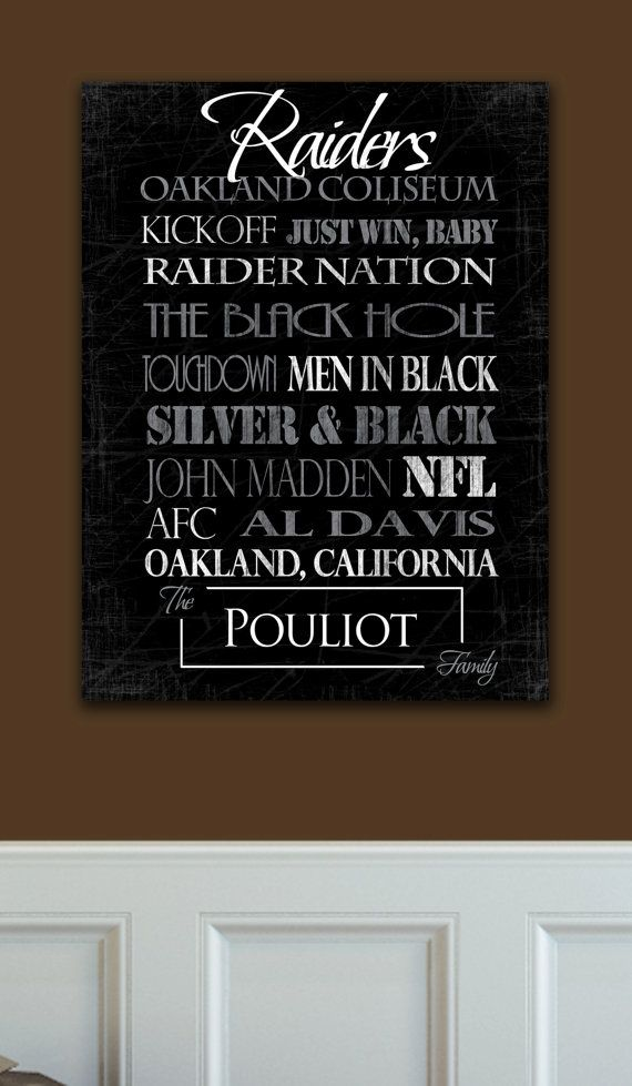 FREE CANVAS UPGRADE on Cyber Monday Oakland Raiders Ready to Hang Standout