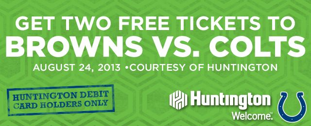 #Free #Cleveland #Browns and #Indianapolis #Colts #tickets