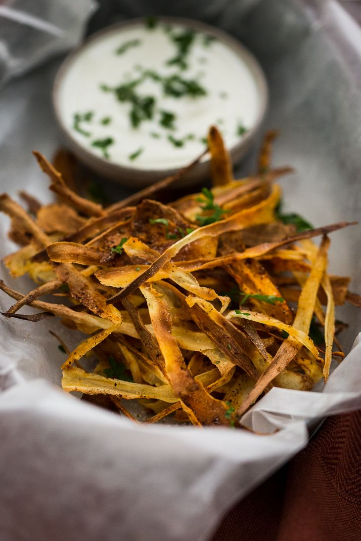Chipotle Parsnip Crisps from the Yummy Supper Cookbook | Naturally Ella