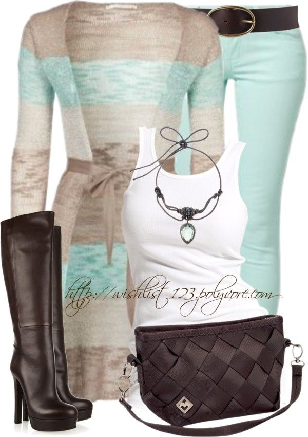 Love this combo! Going to recreate with cabi Mint Jeggings from Spring 13, the new Nantucket Sweater from Spring 14, white Placket Blouse and black and white whole punch Belt!