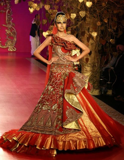 #RituBeri Red #Bridal #Designer Dress