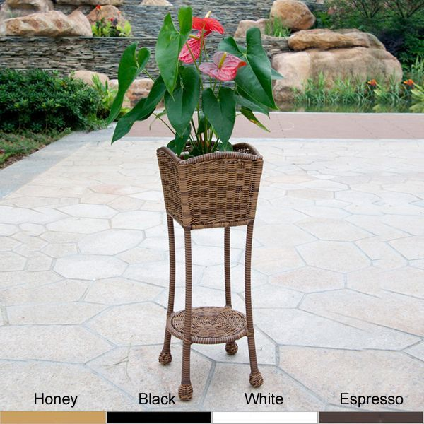These wicker planter stands from Wicker Lane provide a great way to display a variety of your favorite plants. The bottom shelf is perfect for holding a second plant or a phone book, and the hidden steel frame makes this sturdy and resilient.