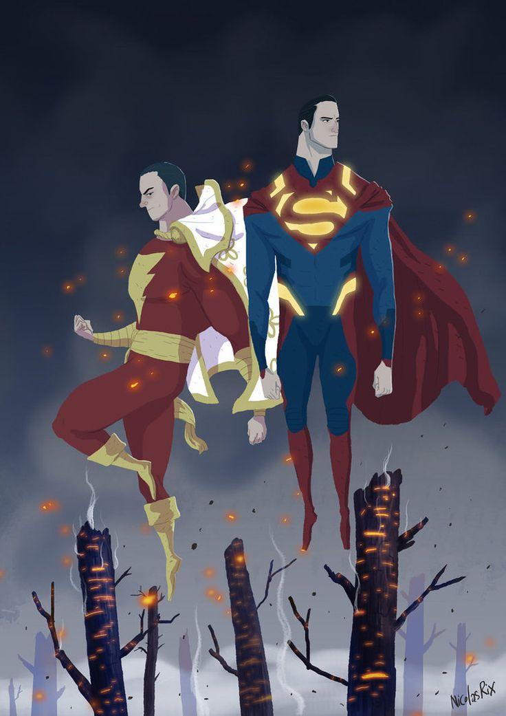 Superman and Shazam by NicolasRix on deviantART
