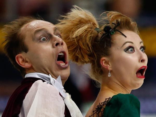 Advice to these two skaters: find a new job. You don't seem to love what you are doing very much
