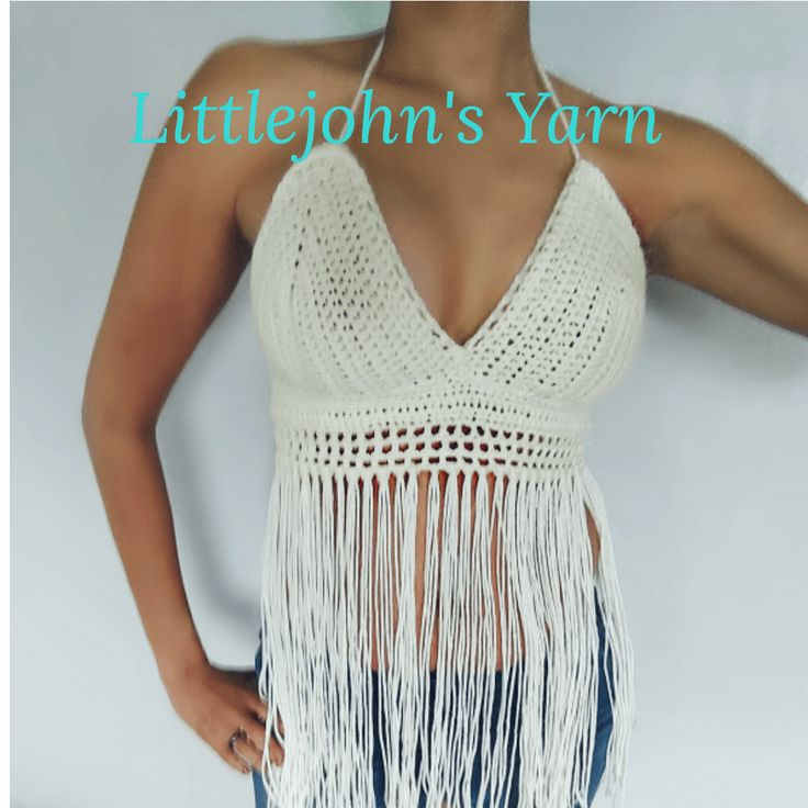Free pattern and Video Tutorial for crochet Halter / Festival top. I know I'm tired of making hats and scarfs :-)Only a crocheter know Summer Blues. I was looking for fun quick item to mak…