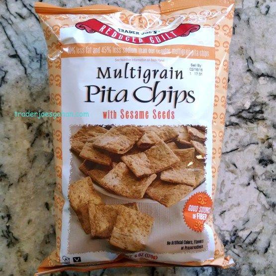 Trader Joe's Reduced Guilt Multigrain Pita Chips with Sesame Seeds 6oz/170g $1.99 トレーダージョーズ リデュースドギルト マルチグレイン ピタチップス ウィズ セサミシード