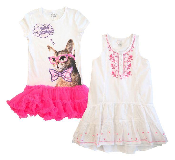 1989 PLACE Embroidered White Boho Dress, OLD NAVY T-Shirt Pink Tutu Dress M #1989PlaceOldNavy #WeddingPartyEverydayDressy