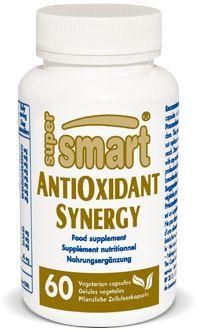 AntiOxidant Synergy - AntiOxidant Synergy contient un mélange d'antioxydants hautement efficaces qui constitue une défense polyvalente et puissante contre tout un éventail de radicaux libres : radicaux hydroxyles, superoxydes, oxygène singulet, peroxydes d'acides gras ou protéines oxydées.