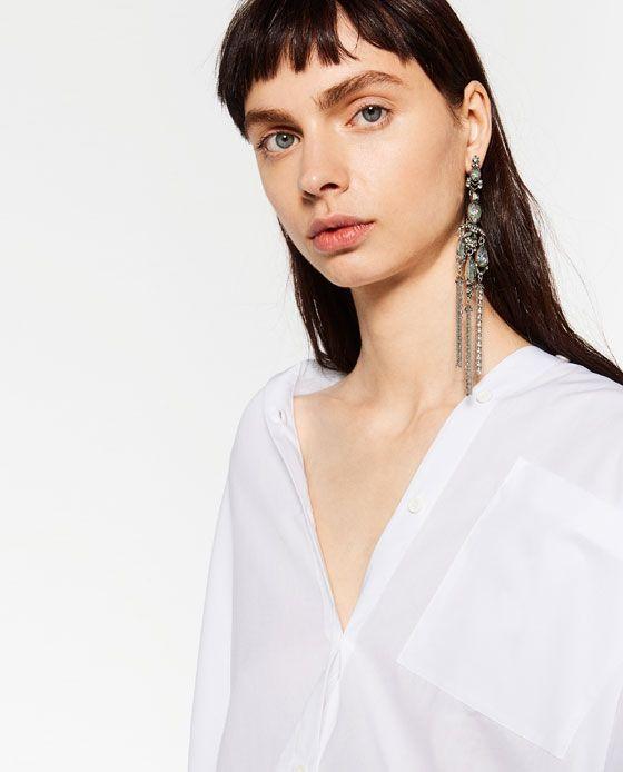 изображение 4 из СЕРЬГИ ДЛИННЫЕ СЕРЕБРИСТЫЕ от Zara