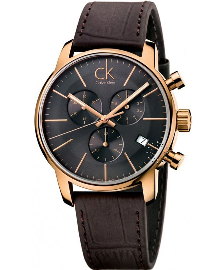 Calvin KLEIN Chronograph Brown Leather Strap Τιμή: 349€ http://www.oroloi.gr/product_info.php?products_id=36859