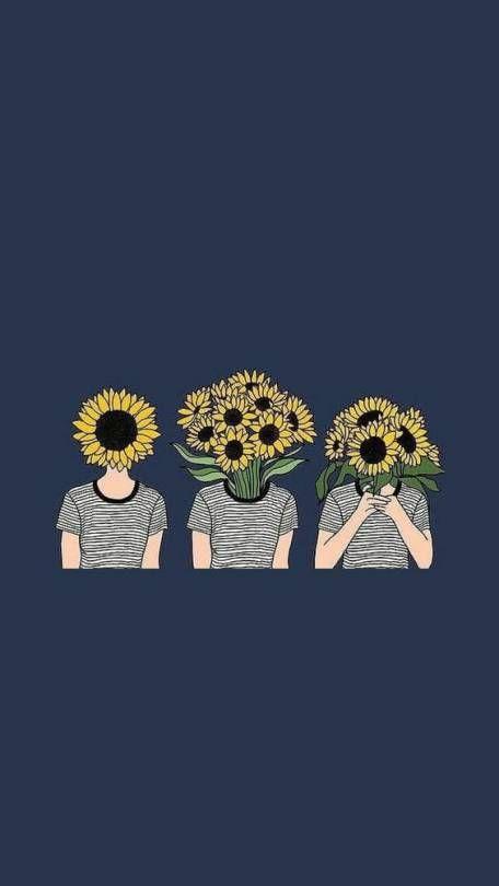 aesthetic /// Wallpaper /// Lockscreen Sunflower