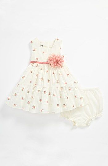 For a little girl...with a little matching headband and a little white crochet sweater?! omg i'm dying... Pippa & Julie Rose Print Dress (Baby) | Nordstrom
