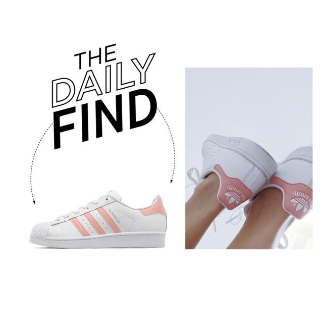 """""""The Daily Find: Adidas Originals Superstar Sneakers"""" by polyvore-editorial ❤ liked on Polyvore featuring adidas Originals and DailyFind"""