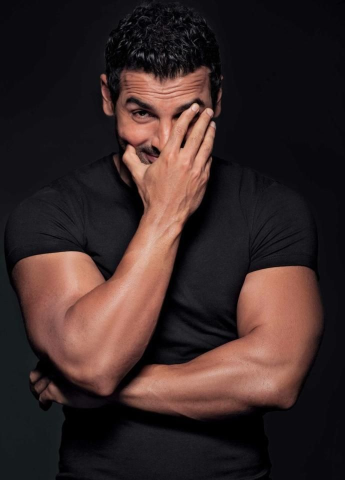 Okay John Abraham stop looking at me like that it makes me nervous!