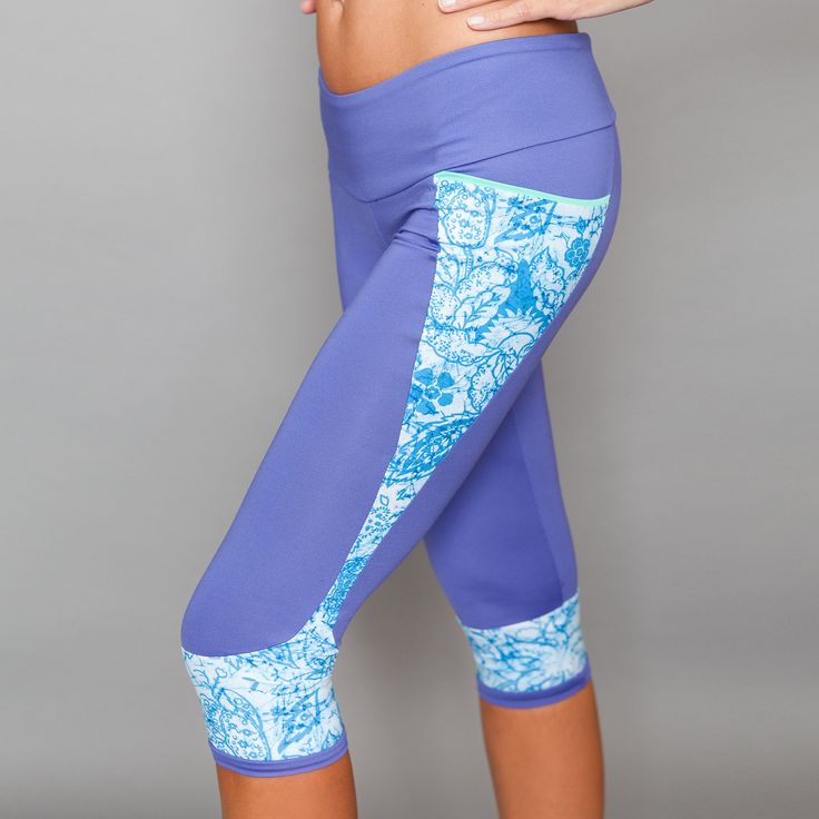 Capri Pants by Denise Cronwall, Denise Cronwall Activewear Riviera Collection, #activewear, #tennis, #fitness, #workout, #apparel, #style, #fashion, #unique, #boutique, #training, #pants, #bra, #top, #designer, #skort, #skirt, #geocollection, #athleisure, #short