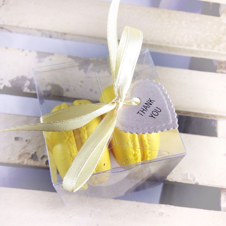 Handmade macaron and gift tag - perfect for a bring home gift for any occasions!