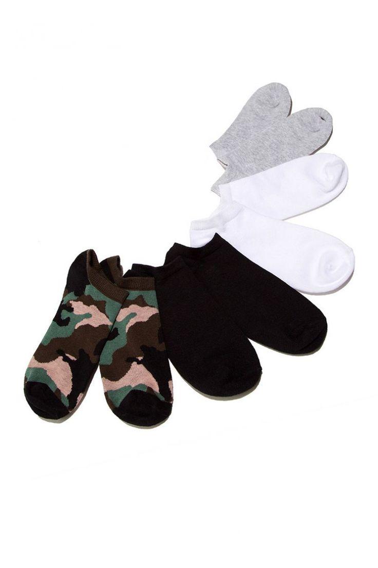 J2017  4 Pairs of Ankle Socks