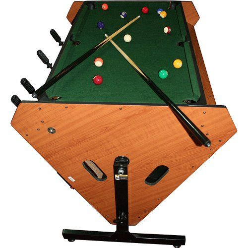 Trademark 3 In 1 Rotating Table Game (Billiards, Air Hockey, And