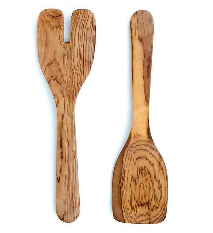 These Wooden Kachumbari Salad Servers Are Simple In Shape And Great For  Mixing.