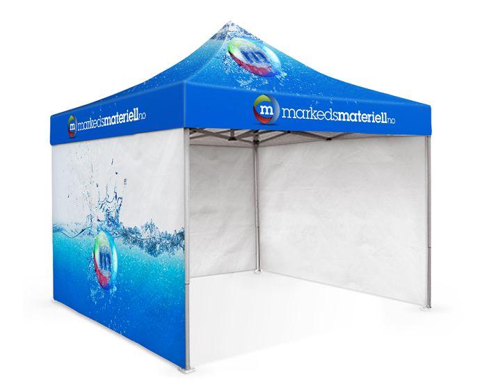 Messetelt, Messe Telt, Logotelt, Logo Telt, Reklametelt, Reklame Telt - Markedsmateriell.no Det er enkelt å slå opp og demontere. Fungerer som ett trekkspill. På teltduken får du skreddersydd ditt design, og det kan lages sidevegger til teltet med print på; 1 til 4 vegger.