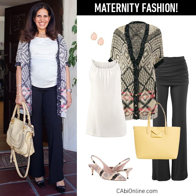 #CAbi - We love the extra stretch in the Fifth Avenue Tee! Betty has worn it through her pregnancy for a polished office look.