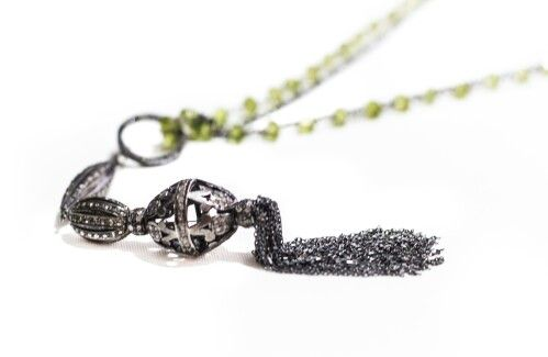 Peridot, Diamond, Silver
