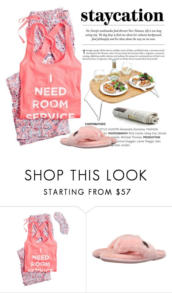 """""""Need Room Service"""" by conch-lady ❤ liked on Polyvore featuring Victoria's Secret, Bedroom Athletics, Picnic Time, staycation and needroomservice"""