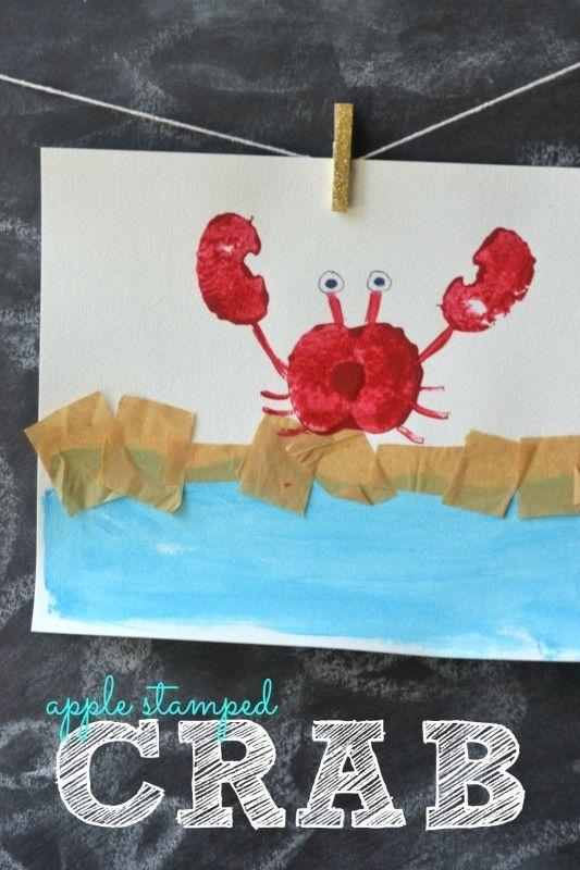 Apple Stamped Crab - Kid Craft