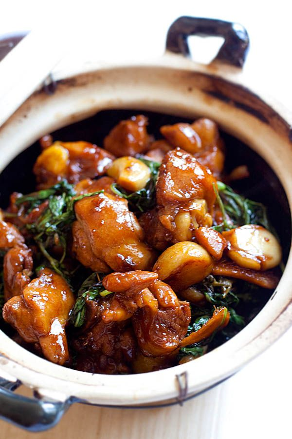 Three cup chicken - easy and authentic three cup chicken (san bei ji) recipe that anyone can make at home. So homey, delicious and takes 20 mins to make.