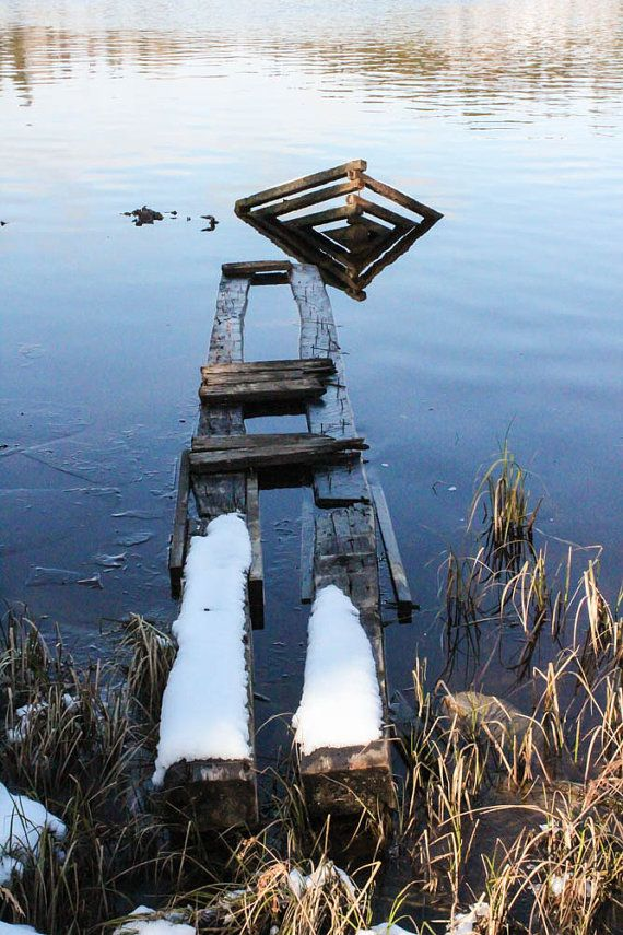 Seen Better Days Dock  Photo Print by NorthernAuthentic on Etsy