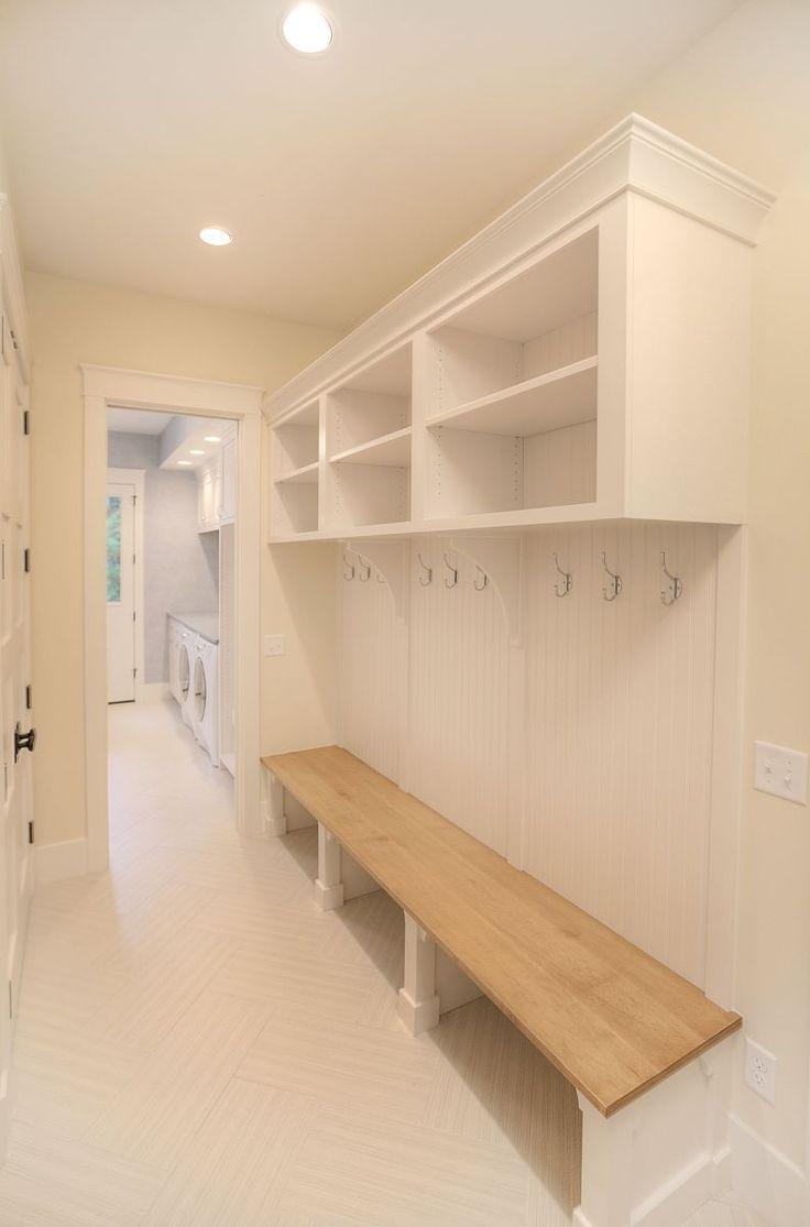 white mudroom - MAC custom homes