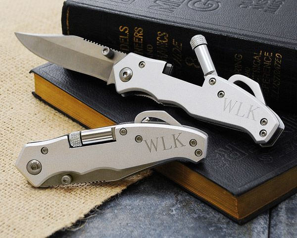 A Sterling Example Of Your Friendship This Stainless Steel Pocket Knife Is Personalized And Makes
