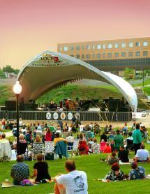 Daytime festival at Lock 3 Park in Akron Ohio - (courtesy of Lock 3 Park)