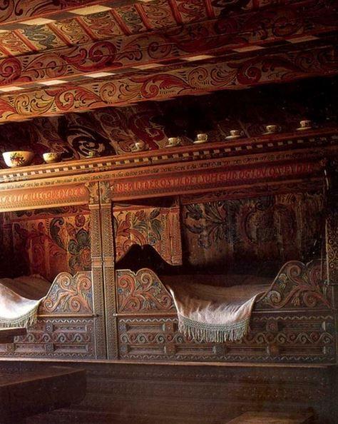 russian beds, folk art