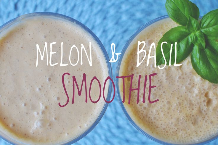 MELON & BASIL SMOOTHIE to see ingredients and how to make it, head over to my website - she-smiles.com