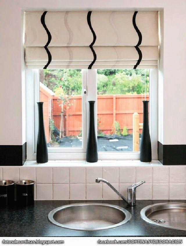 25 ideas destacadas sobre cortinas romanas para la cocina for Ideas para cortinas de cocina