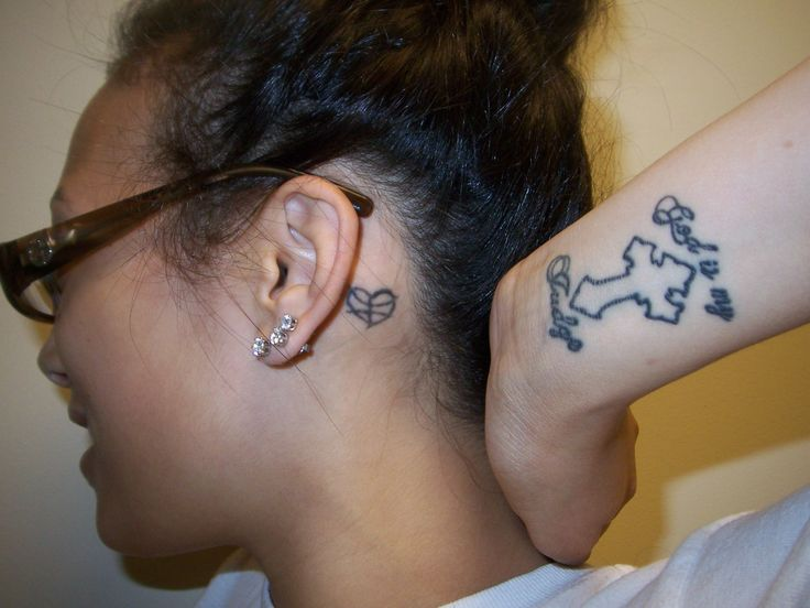 Heart Shaped Basketball Tattoo Pin heart and words tattoo on foot on ...