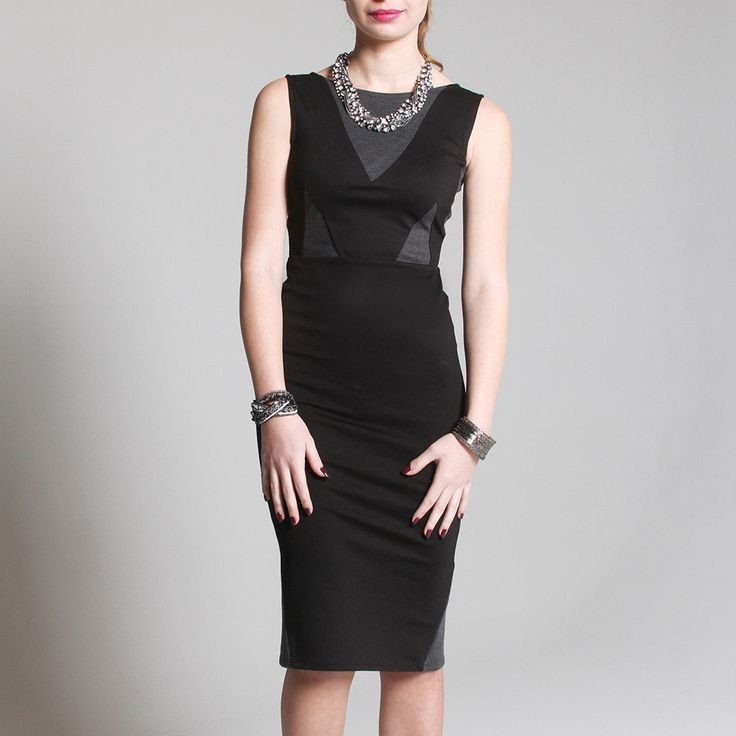 Penelope Color-blocked Ponte Dress - The perfect little black dress - just enough detail to make it interesting, but simple enough to wear anytime. Made in the US!