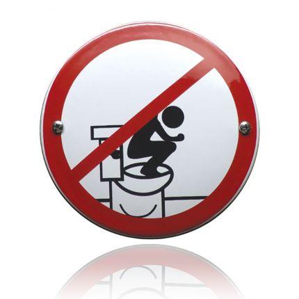 VG-16 emaille verbodsbord verboden op de bril te staan