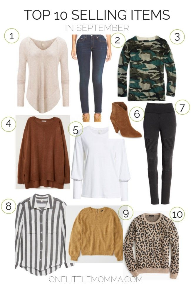 73527b32730d Top 10 Selling Wardrobe Pieces from September- these are all great basics  to style this Fall