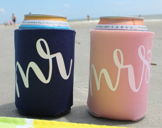 mr and mrs koozies - honeymoon