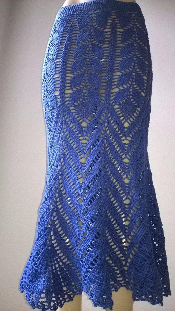 Saia De Croche Gráfico - R$ 24,00 no MercadoLivre