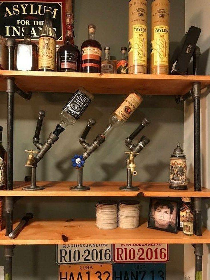 Top 43 Rustic Bar Ideas Aacmm Com Diy Home Bar Bar Furniture Liquor Dispenser