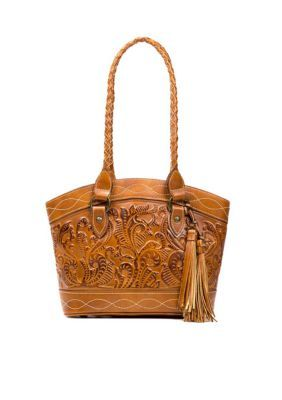 Patricia Nash Gold Zorita Satchel Bag